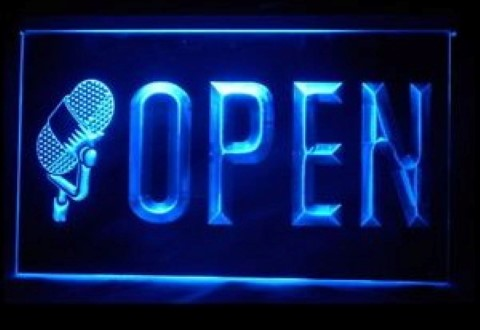 OPEN Studio On The Air Recording LED Neon Sign